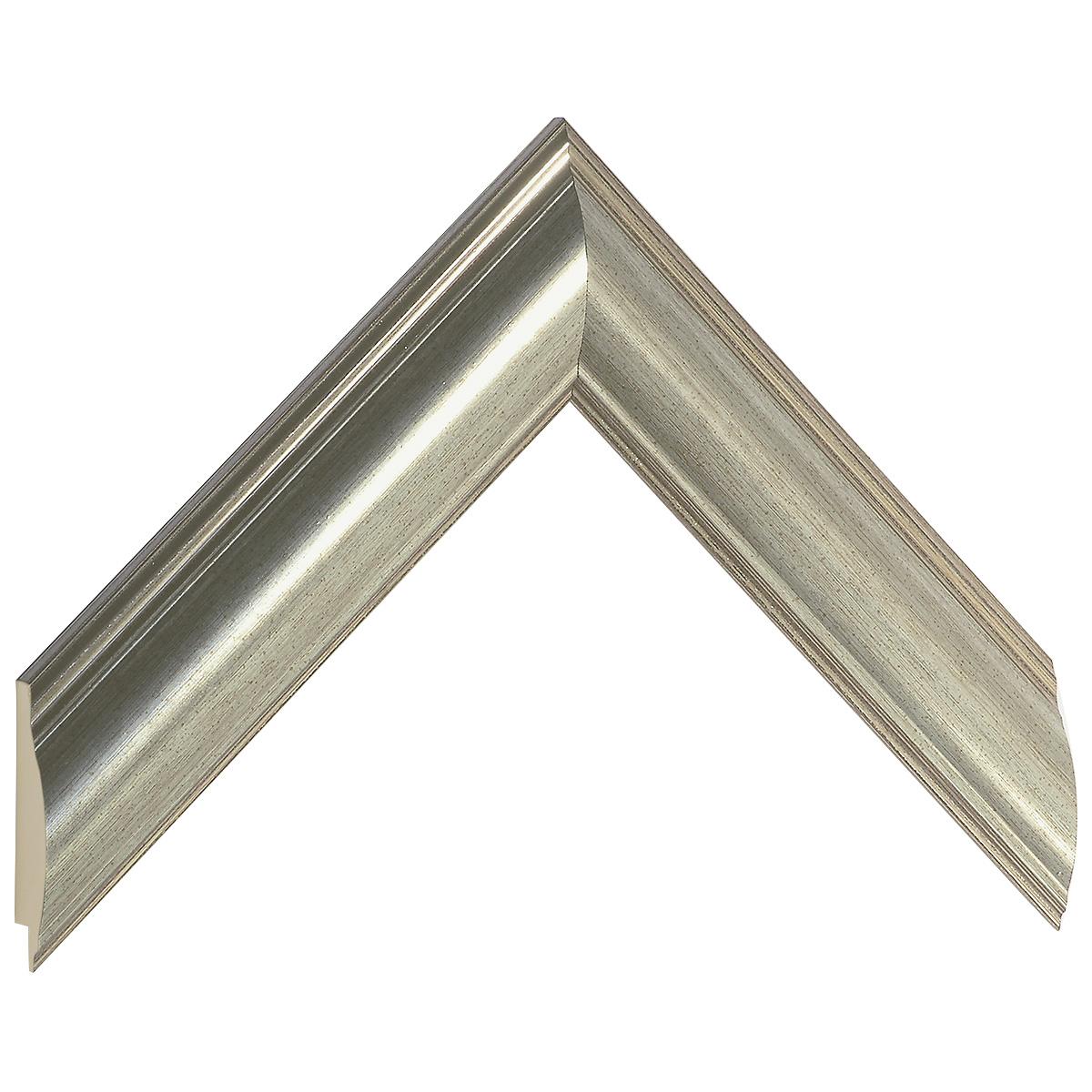 Moulding ayous, width 38mm - silver
