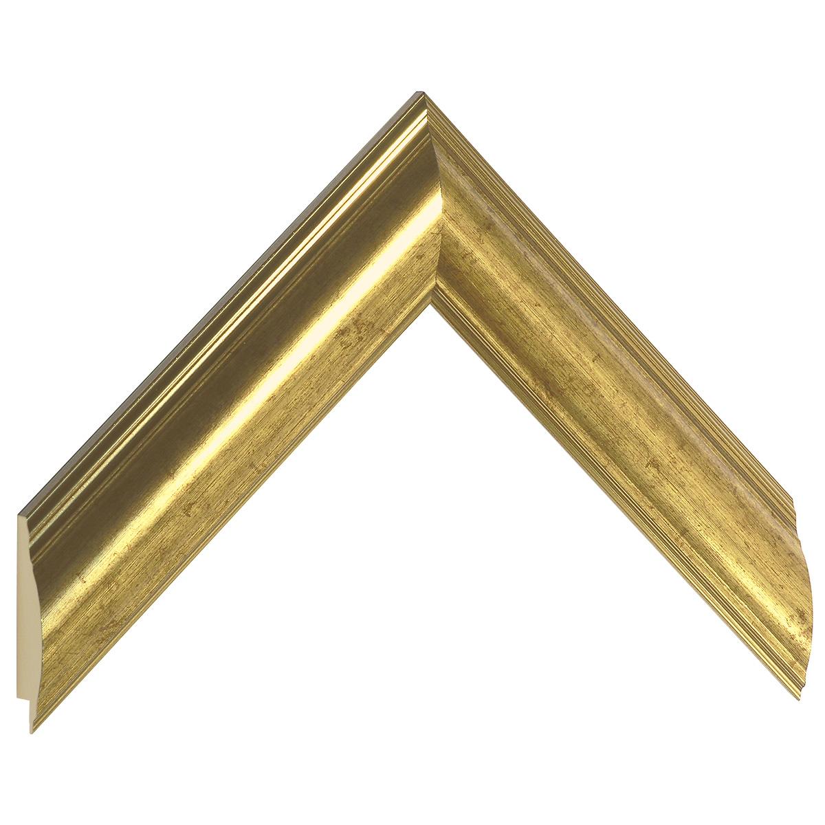 Moulding ayous, width 38mm - gold