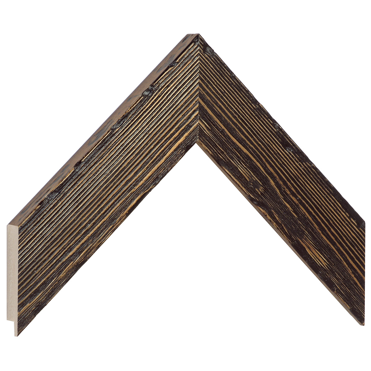 Moulding pine Width 42mm Height 19 - rustic finish, wenge