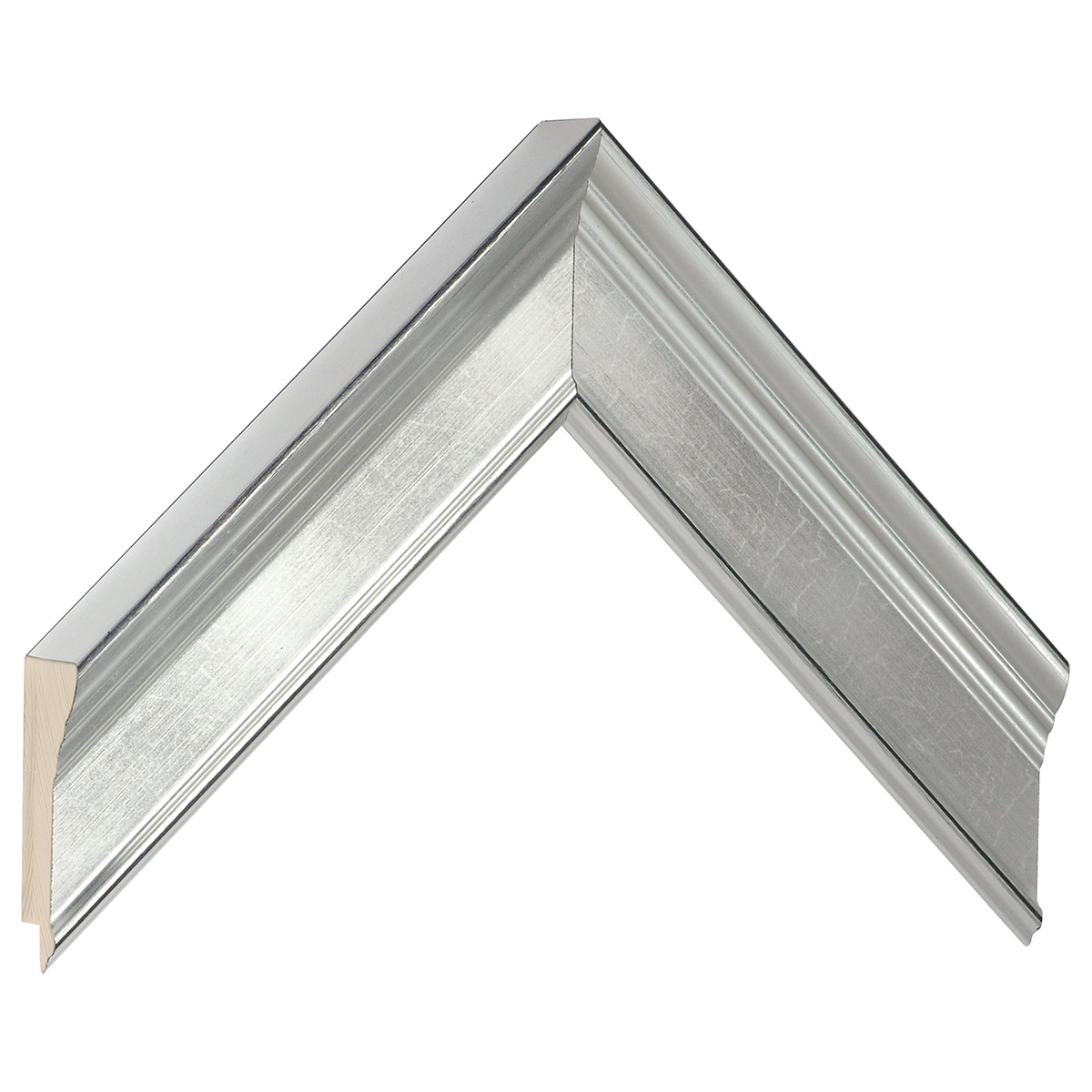 Moulding finger joint pine - width 42mm height 29 - silver