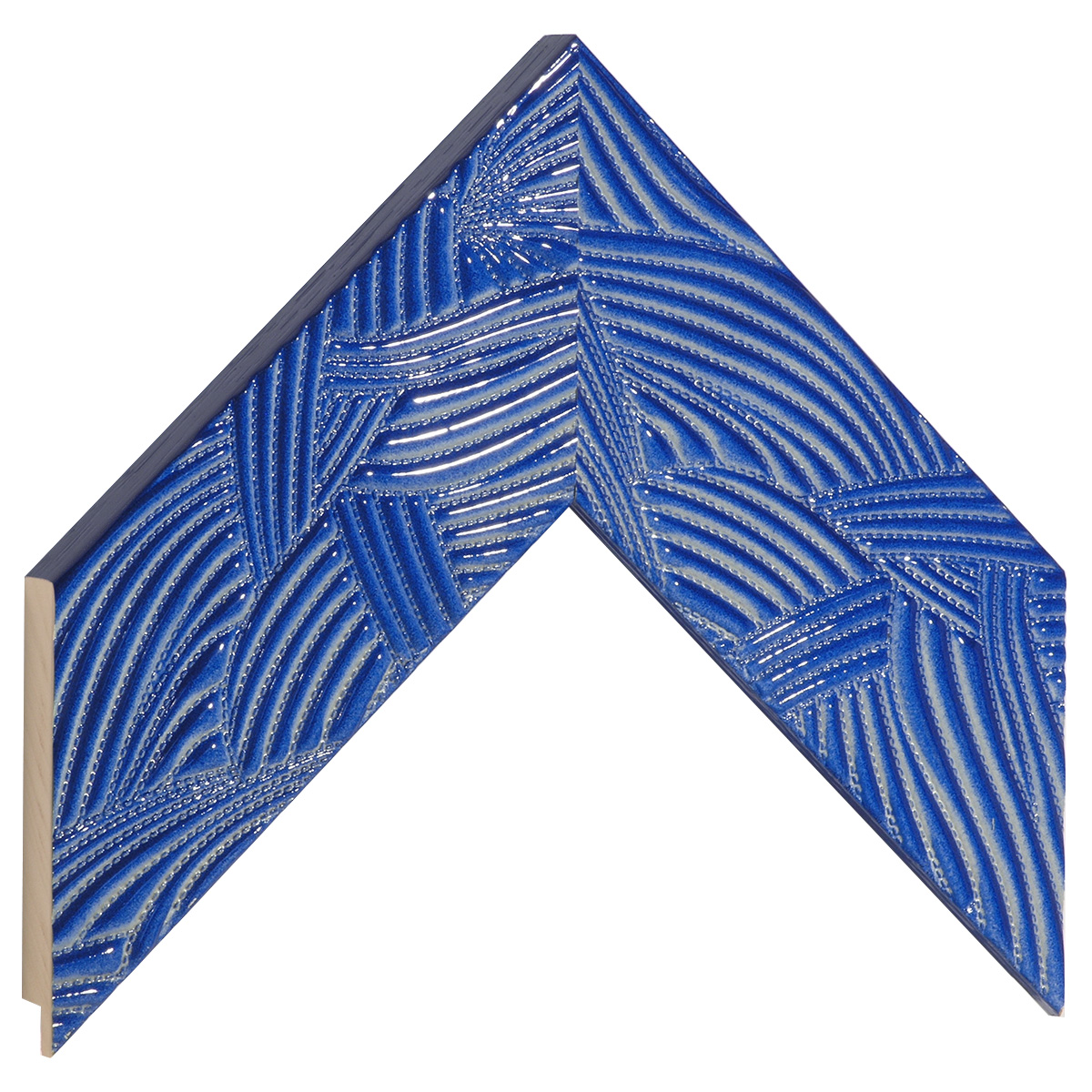 Moulding ayous 65mm - blue with relief decorations