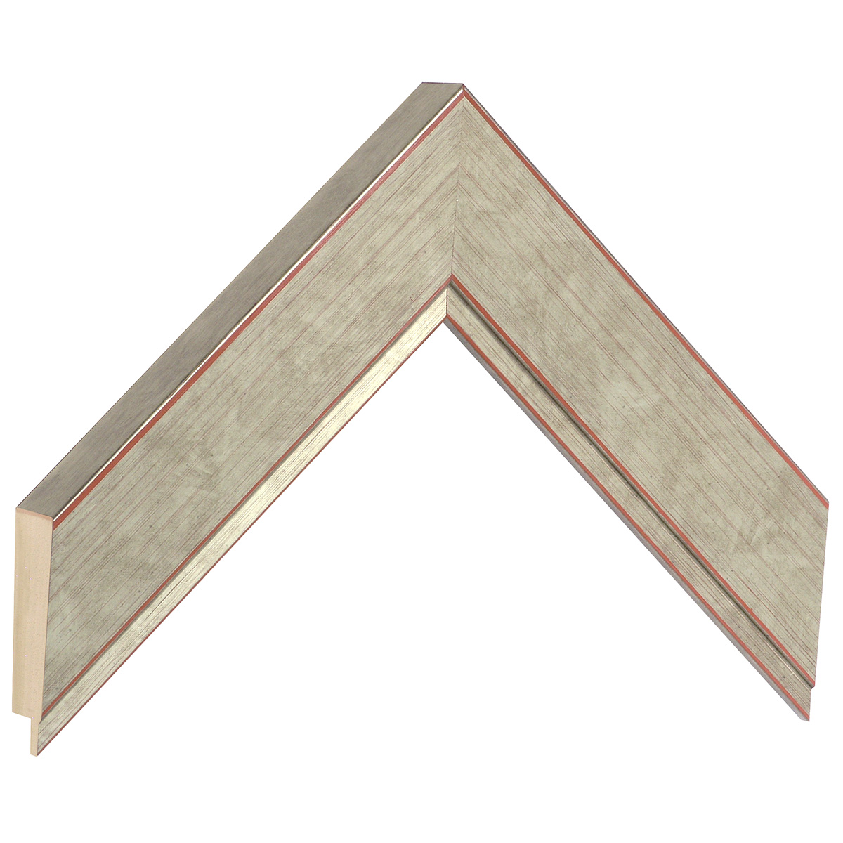 Moulding ayous - width 42mm height 27 - silver finish
