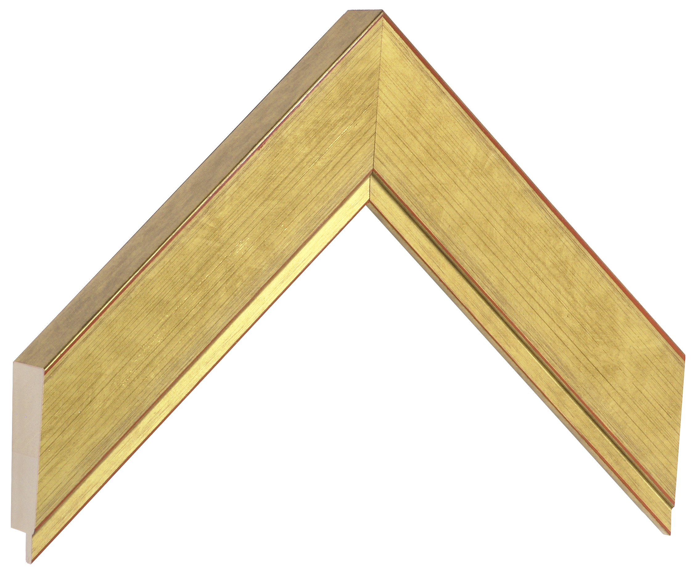 Moulding ayous - width 42mm height 27 - gold finish