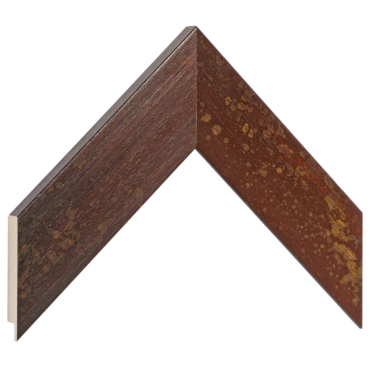 Moulding ayous 49mm - distressed mahogany finish