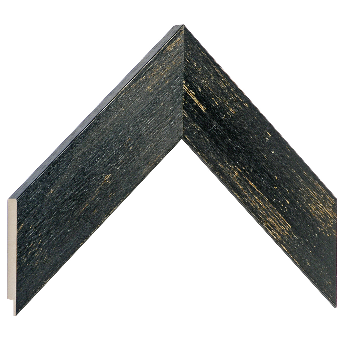 Moulding ayous 49mm - distressed black finish