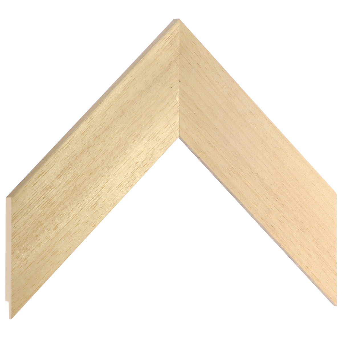 Moulding ayous, width 50mm, height 10mm, bare timber