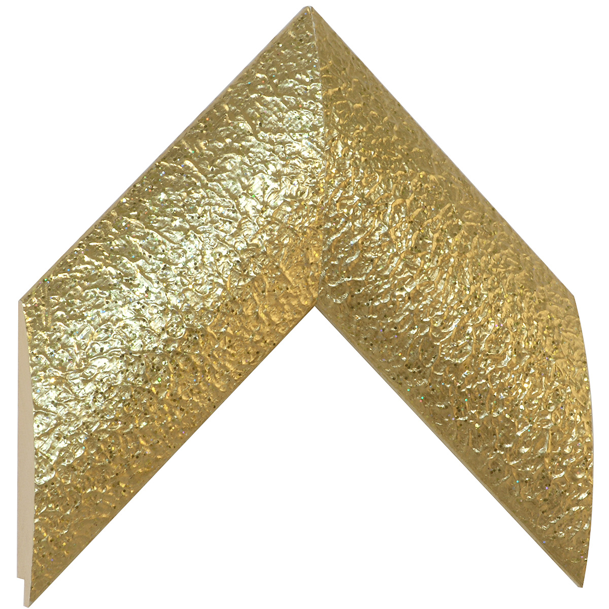 Moulding ayous 77mm - glossy embossed gold
