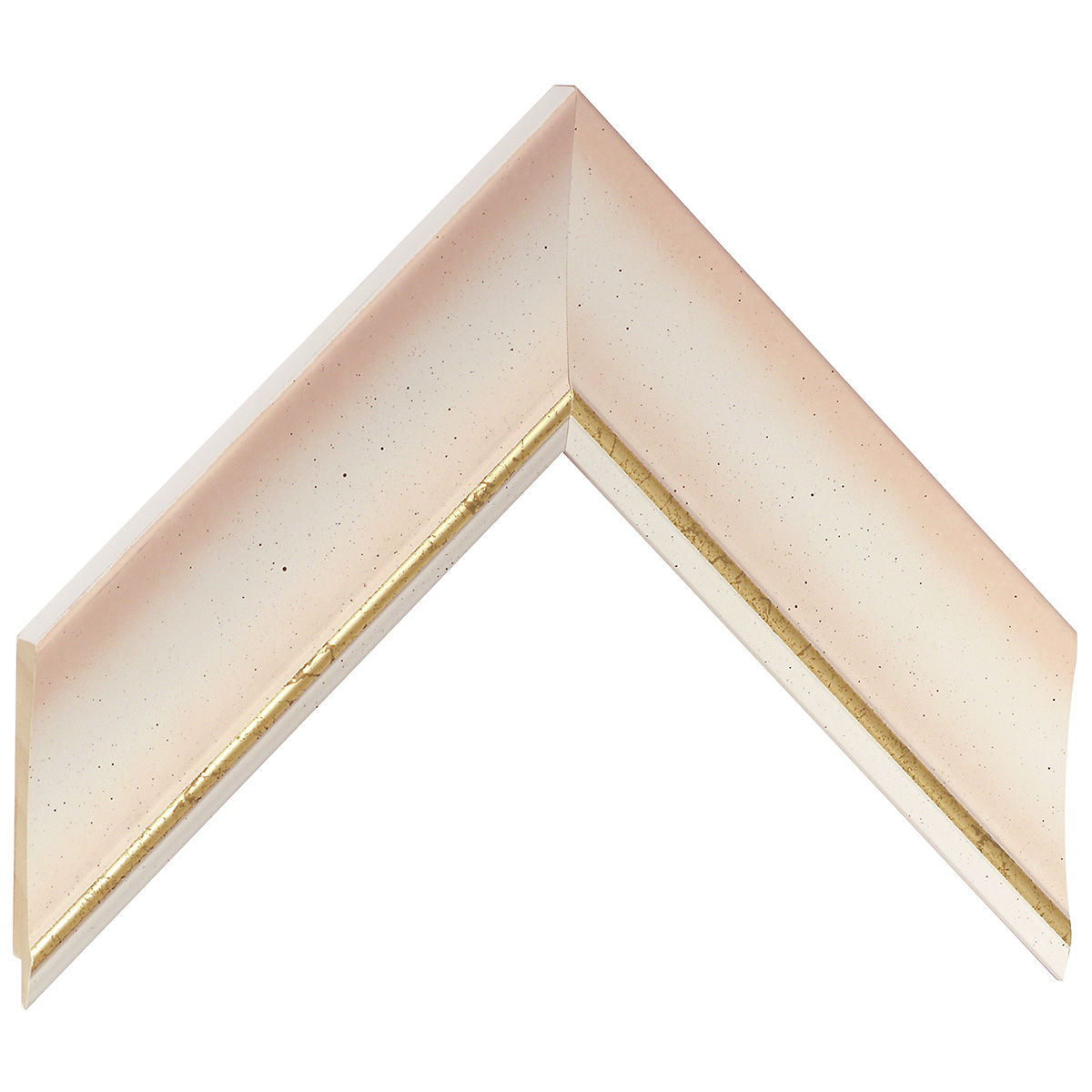 Liner ayous 50mm - convex shape, cream coloured, gold edge