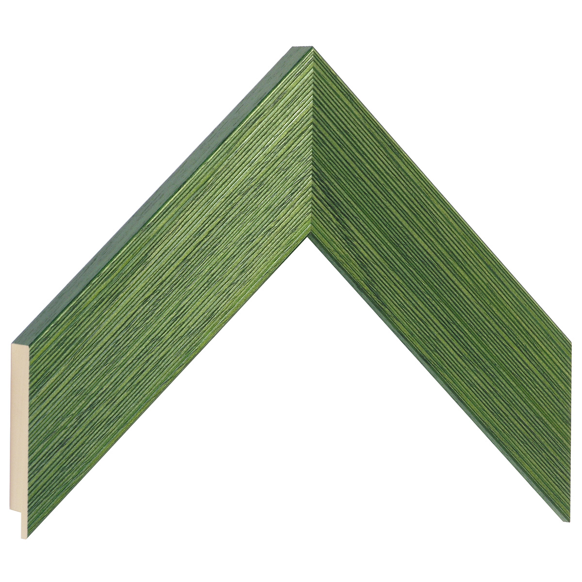 Moulding ayous, width 48mm height 20 - streaked green finish