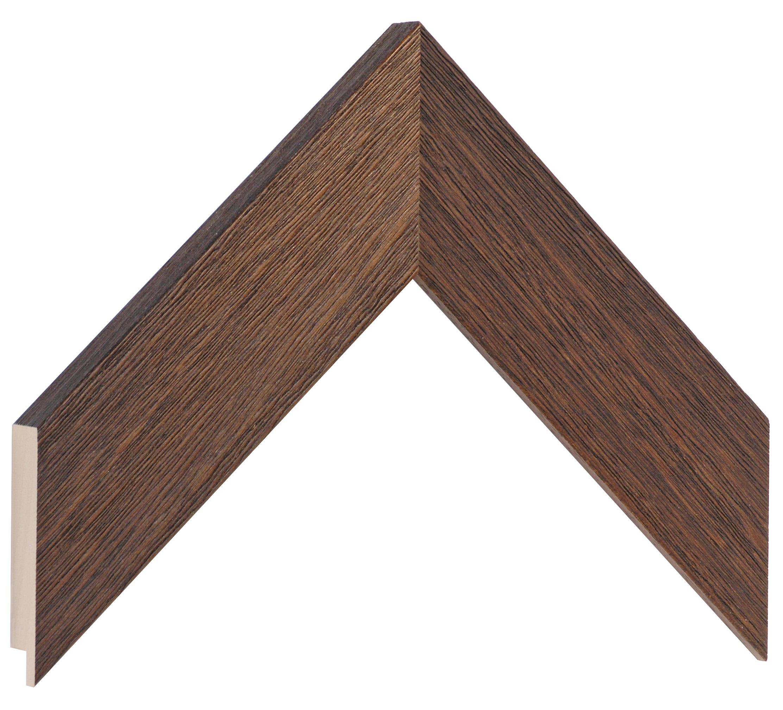 Moulding ayous, width 48mm height 20 - Walnut, open grain
