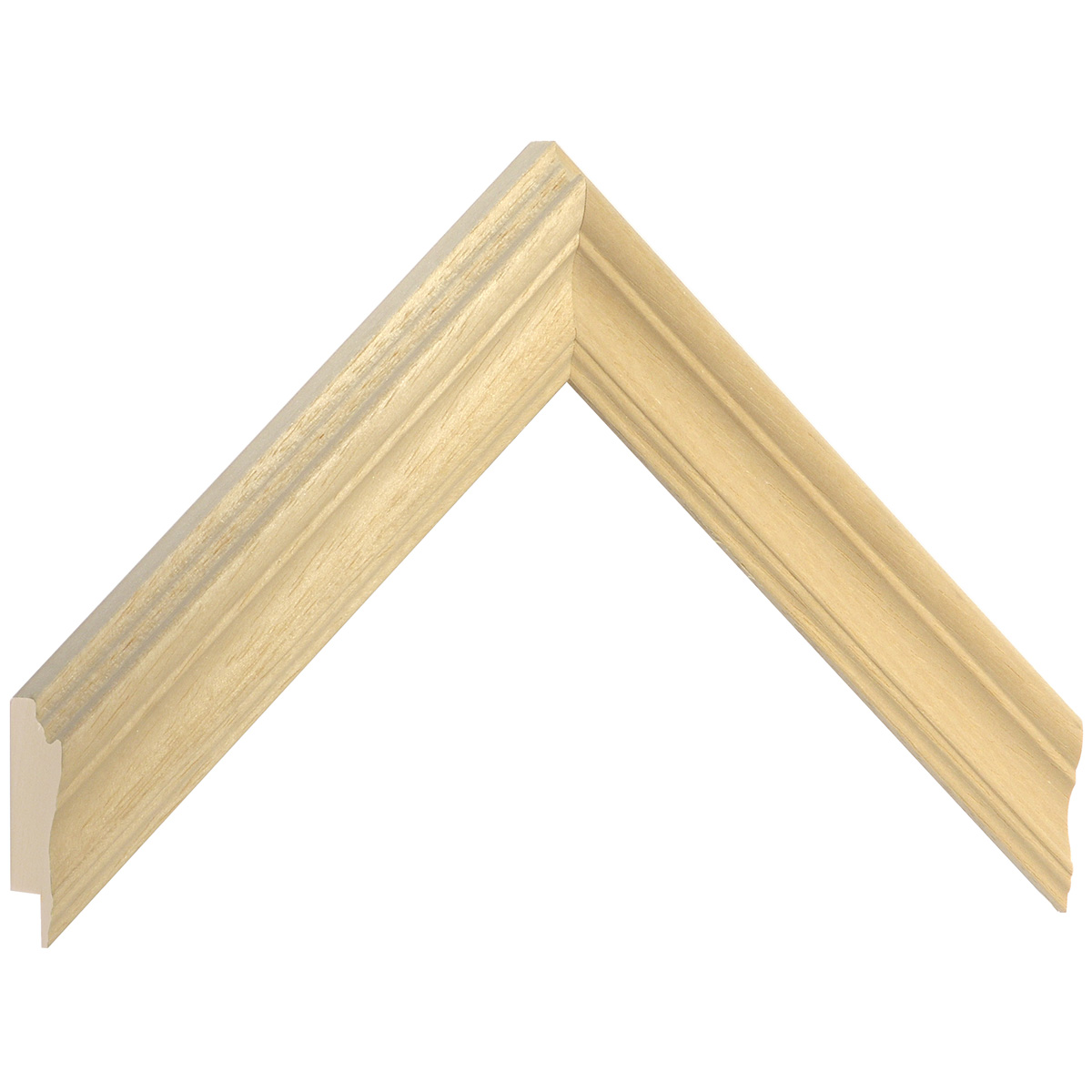 Moulding ayous, width 33mm, height 30mm, bare timber