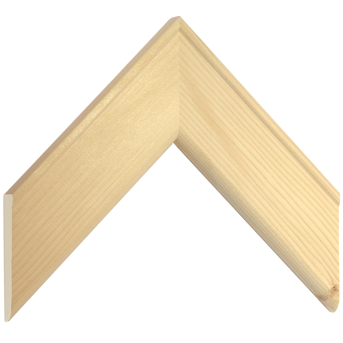 Moulding fir, width 54mm, height 15mm, bare timber