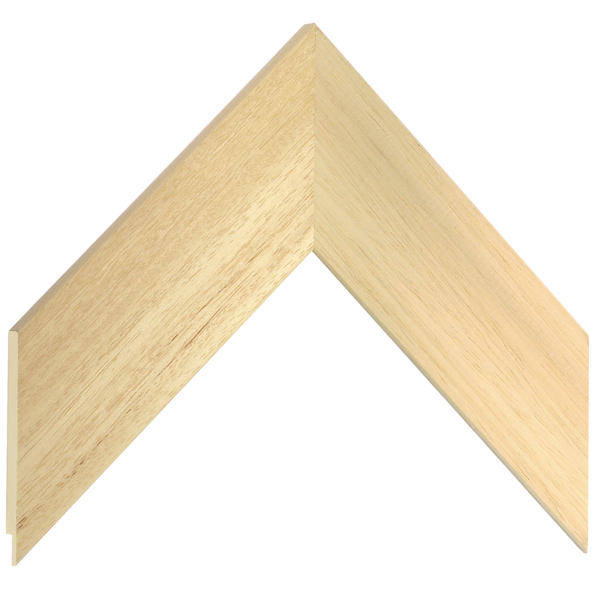 Moulding ayous, width 55mm, height 10mm, bare timber
