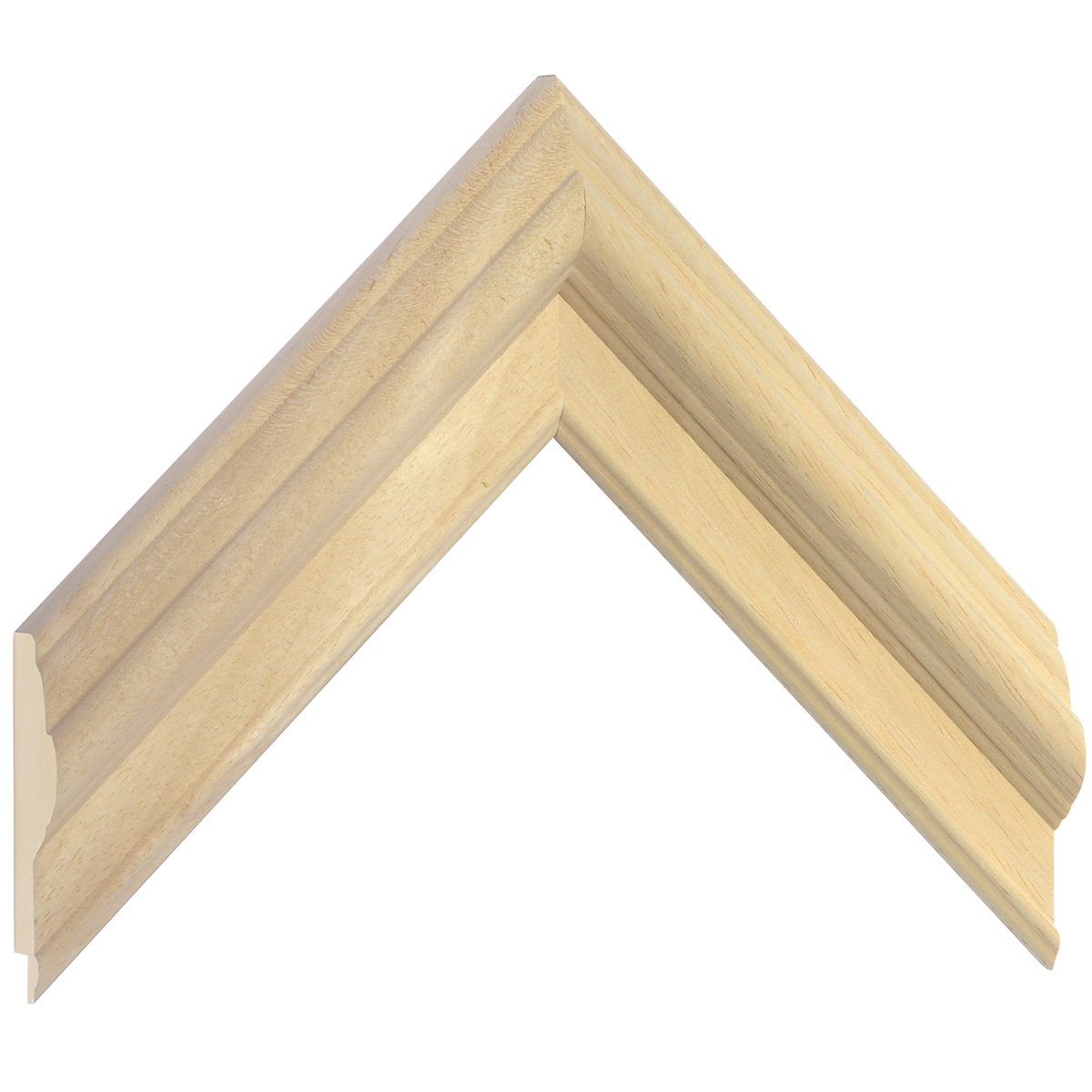 Moulding ayous, width 50mm, height 25mm, bare timber