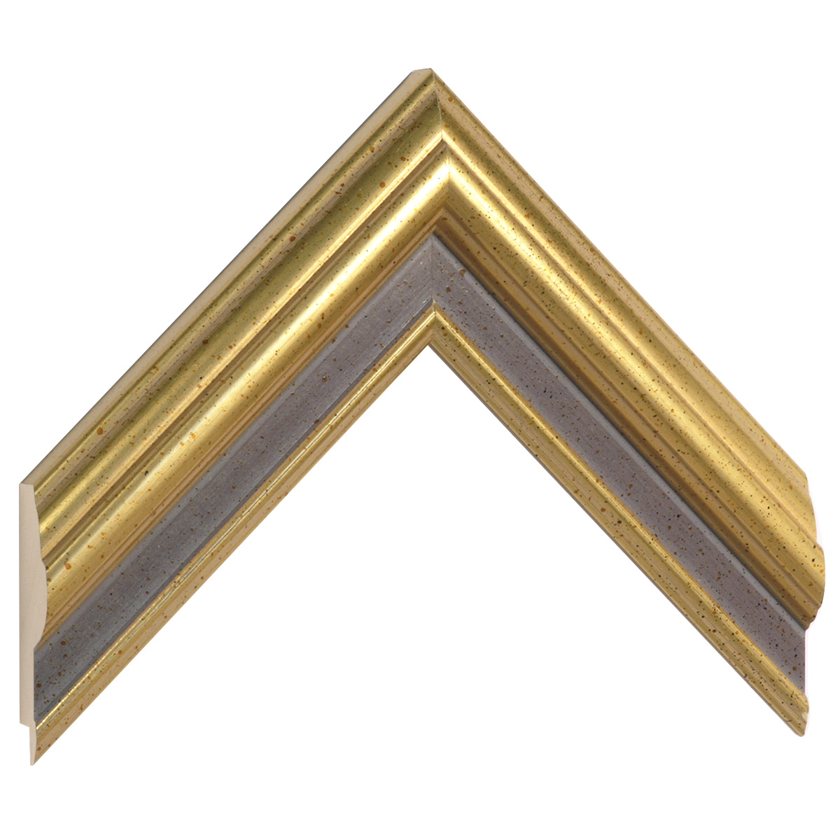 Moulding ayous 50mm - gold with purple band