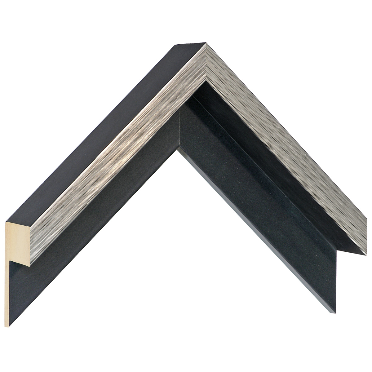 Moulding Jelutong L shape, Width 45mm Height 55 Black-Silver