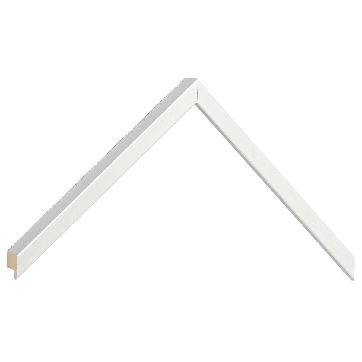 Moulding ayous, width 10mm, height 25mm - bright white