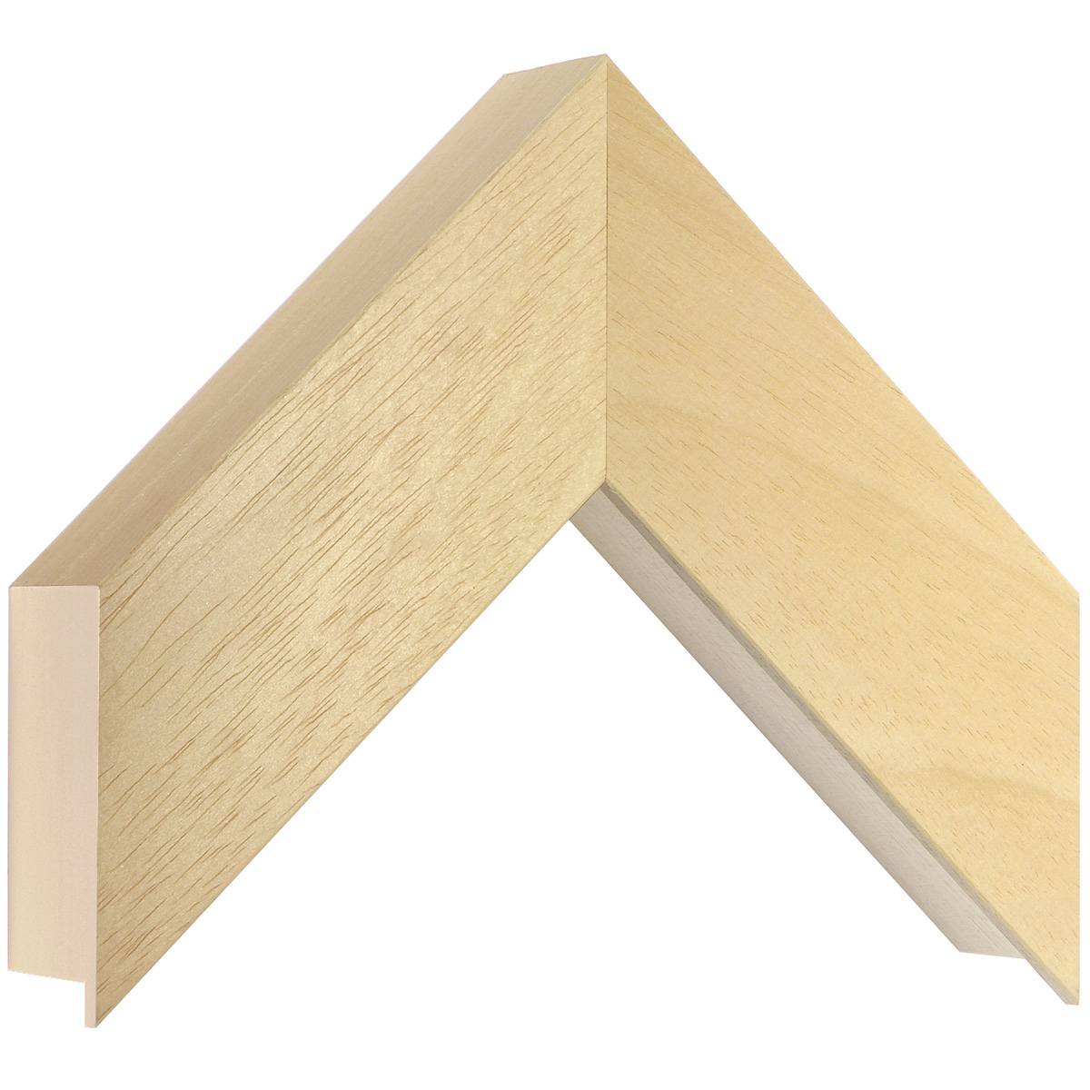 Moulding ayous, width 60mm, height 55mm, bare timber