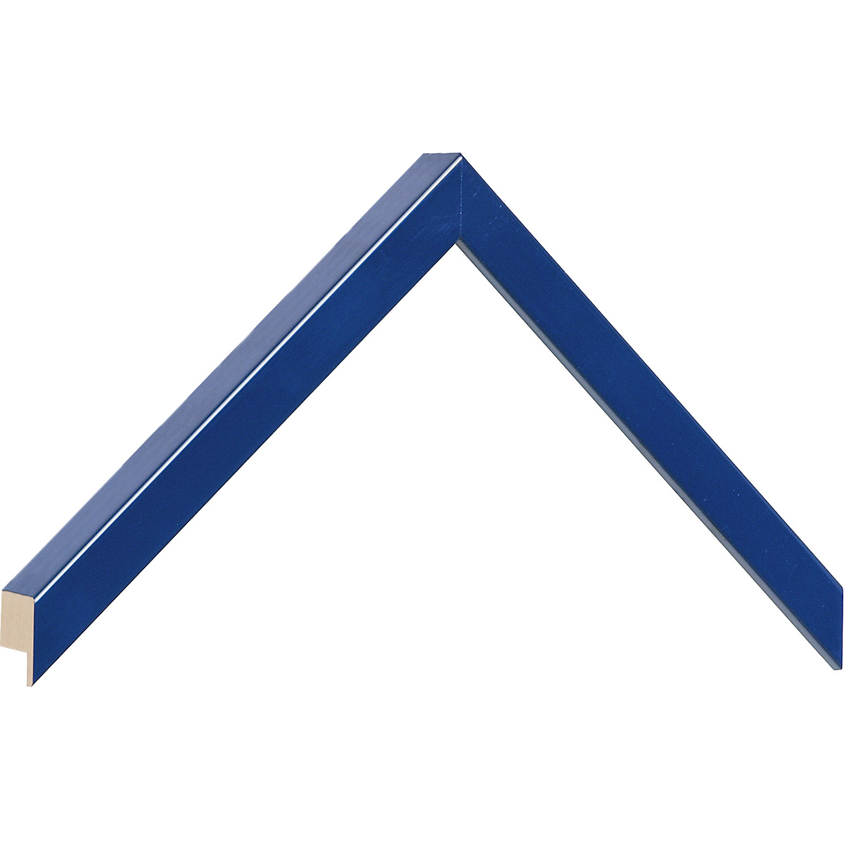 Moulding ayous, width 15mm height 25 - blue lacquered