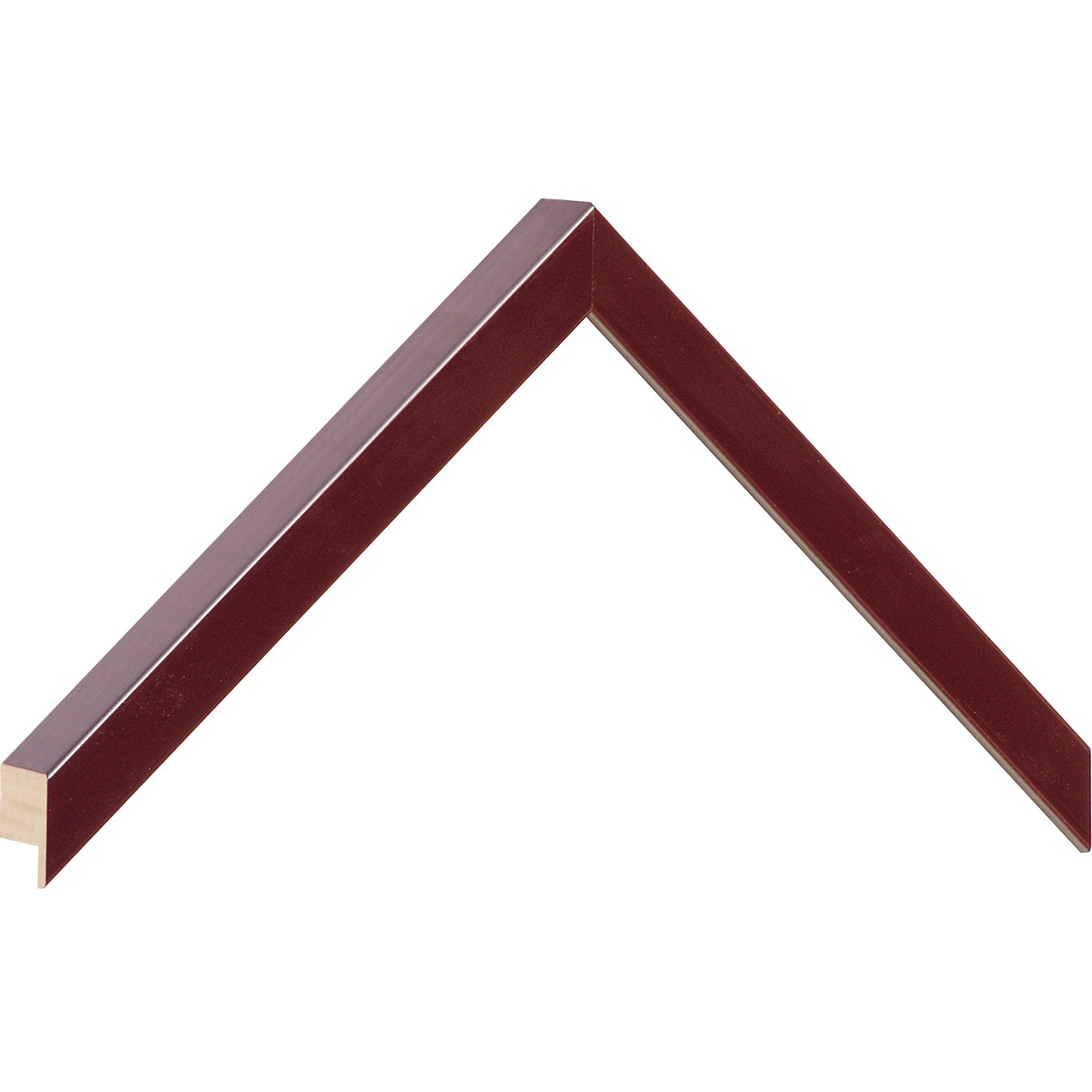 Moulding ayous, width 15mm height 25 - burgundy lacquered