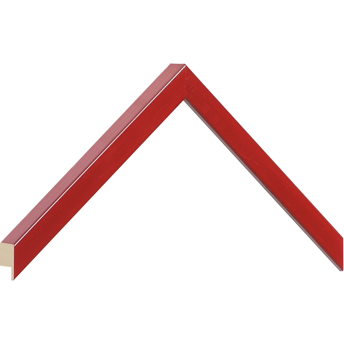 Moulding ayous, width 15mm height 25 - red lacquered