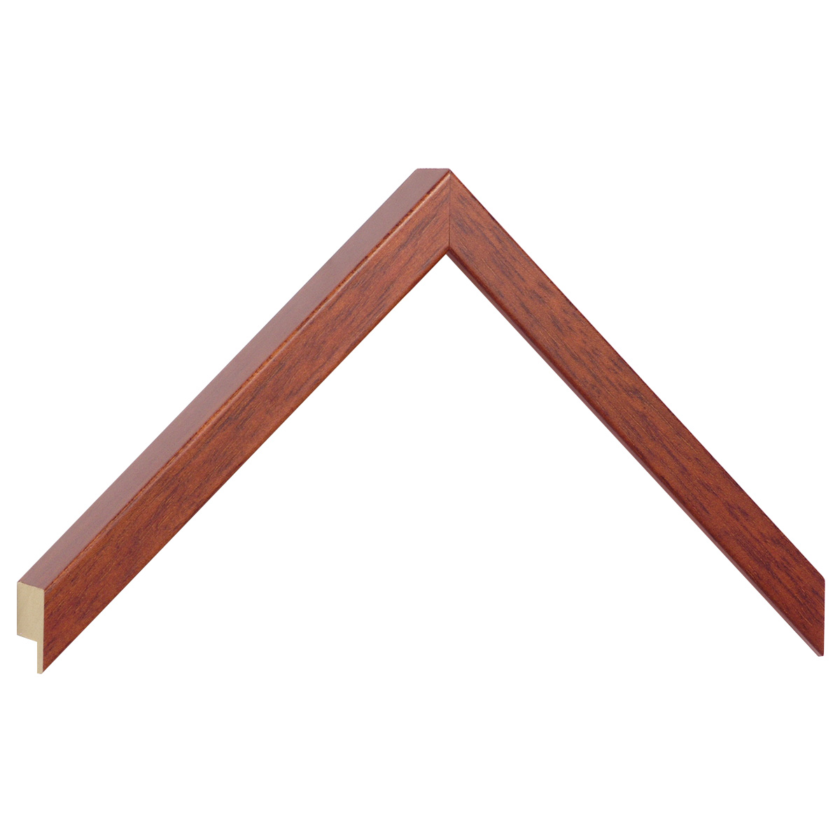 Moulding ayous, width 15mm height 25 - mahogany