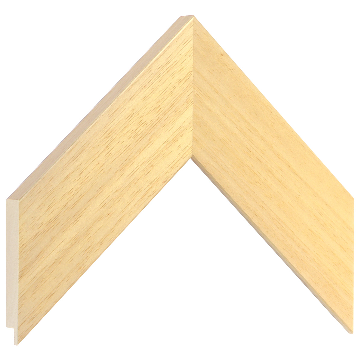 Moulding ayous, width 58mm height 20 - natural wood