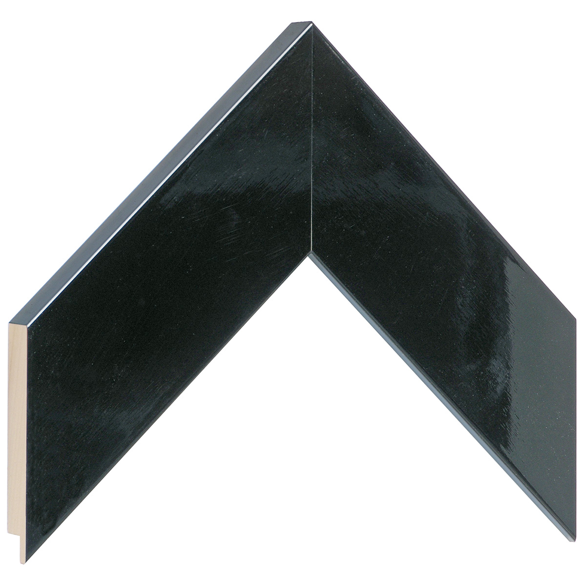 Moulding ayous, width 58mm height 20 - bright black