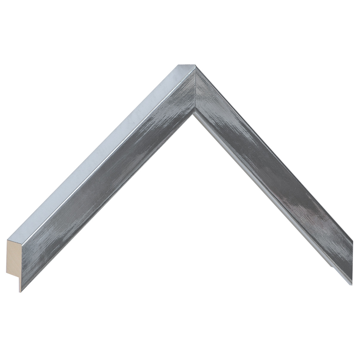 Moulding ayous, width 20mm height 32 - brighr silver