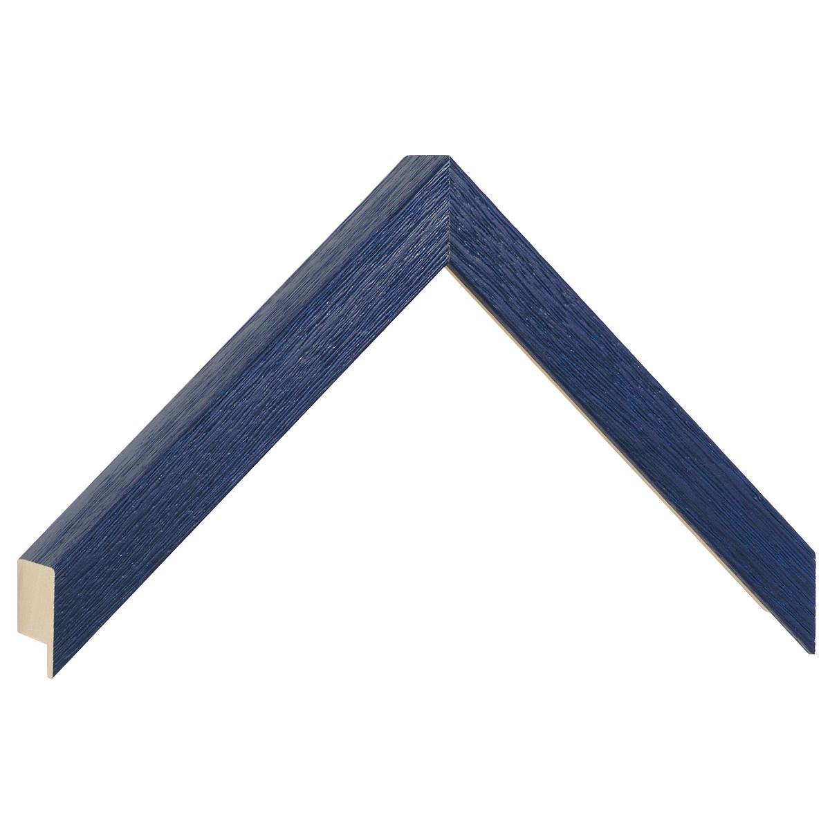 Moulding ayous, width 20mm height 32 - matt bleu