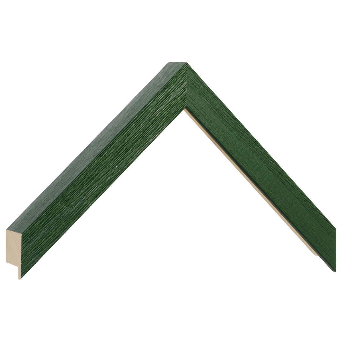 Moulding ayous, width 20mm height 32 - matt green