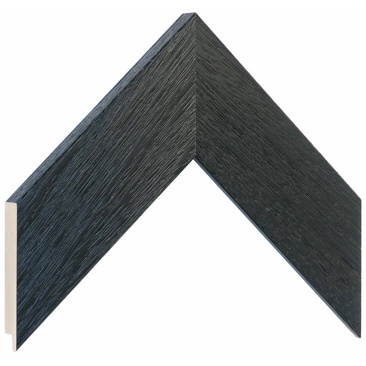 Moulding ayous, width 58mm height 20 - black, open grain