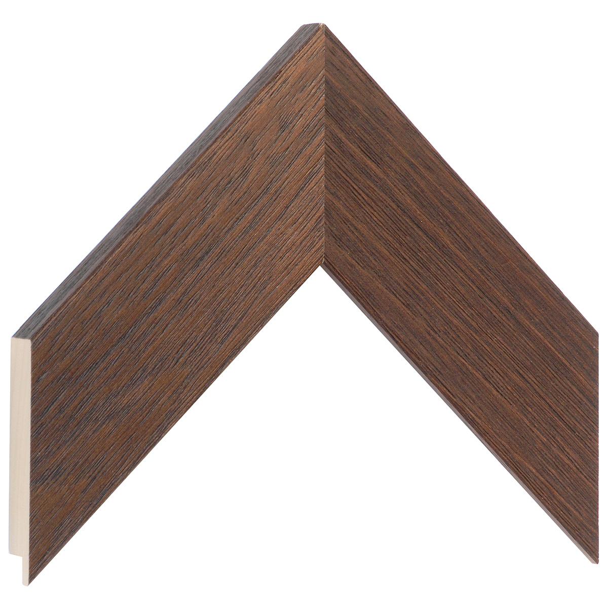Moulding ayous, width 58mm height 20 - walnu, open grain