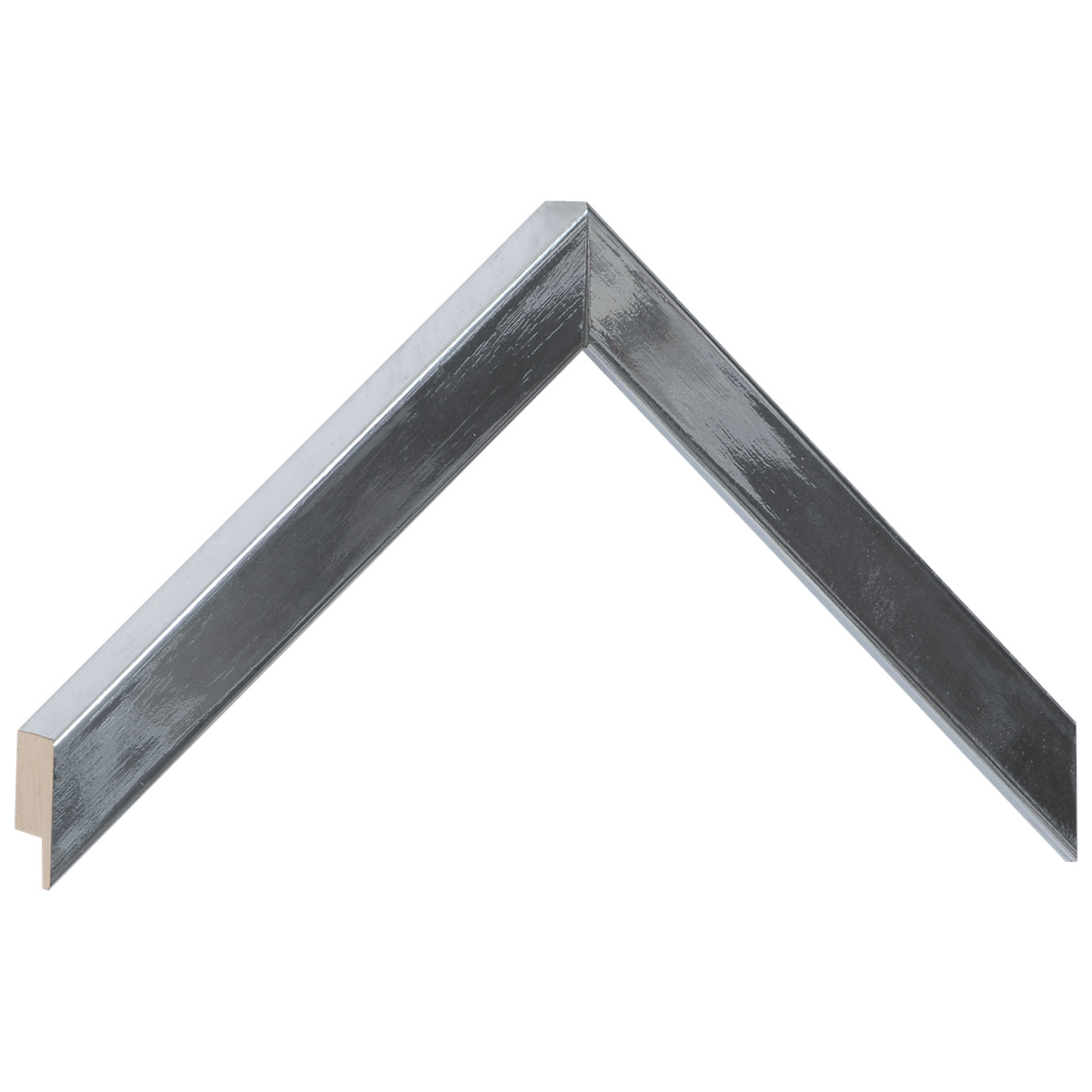 Moulding ayous, width 20mm height 25 - Glossy Silver