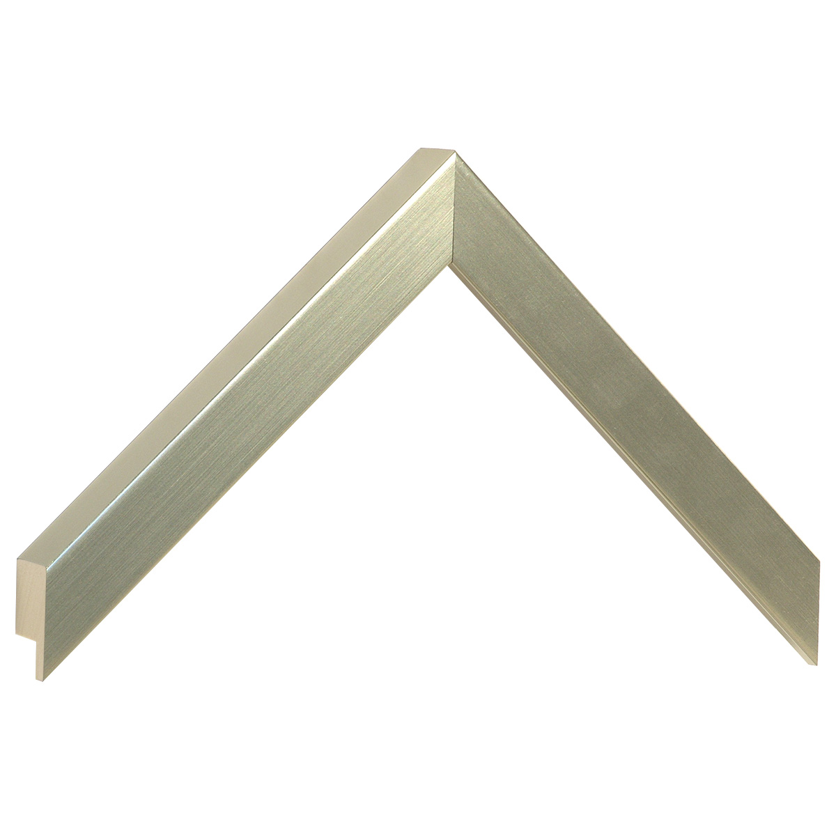 Moulding ayous, width 20mm height 25 - Platinum