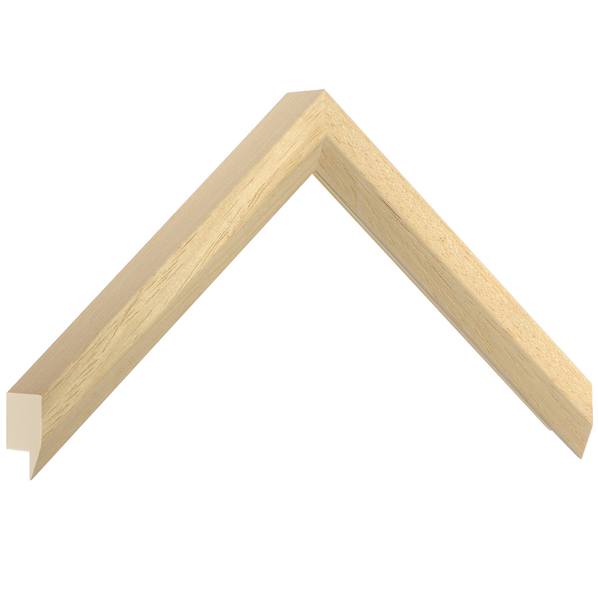 Moulding ayous, width 27mm, height 35mm, bare timber