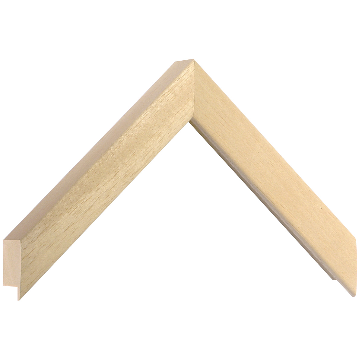 Moulding ayous, width 25mm, height 33mm, bare timber