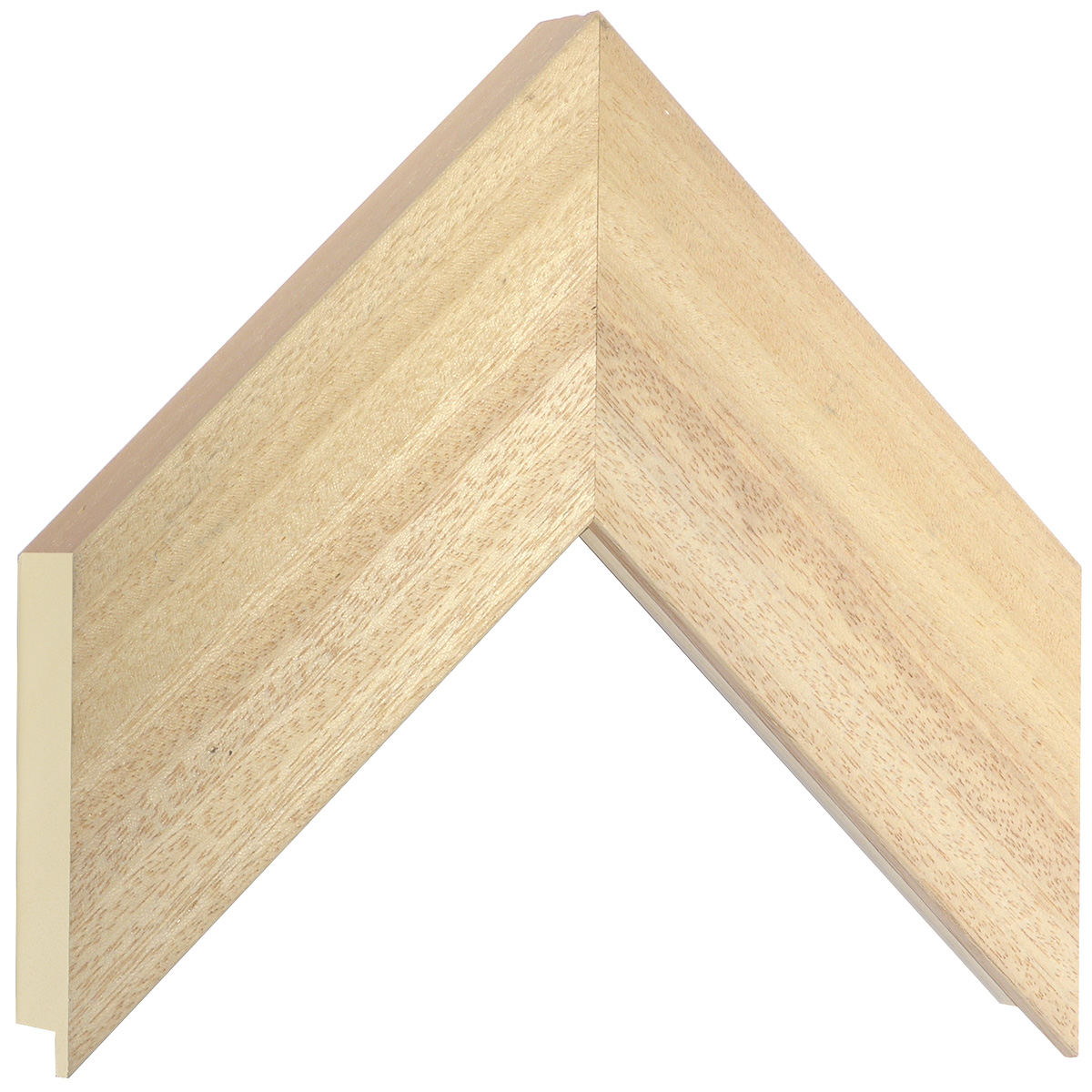 Moulding ayous, width 70mm, height 32mm, bare timber