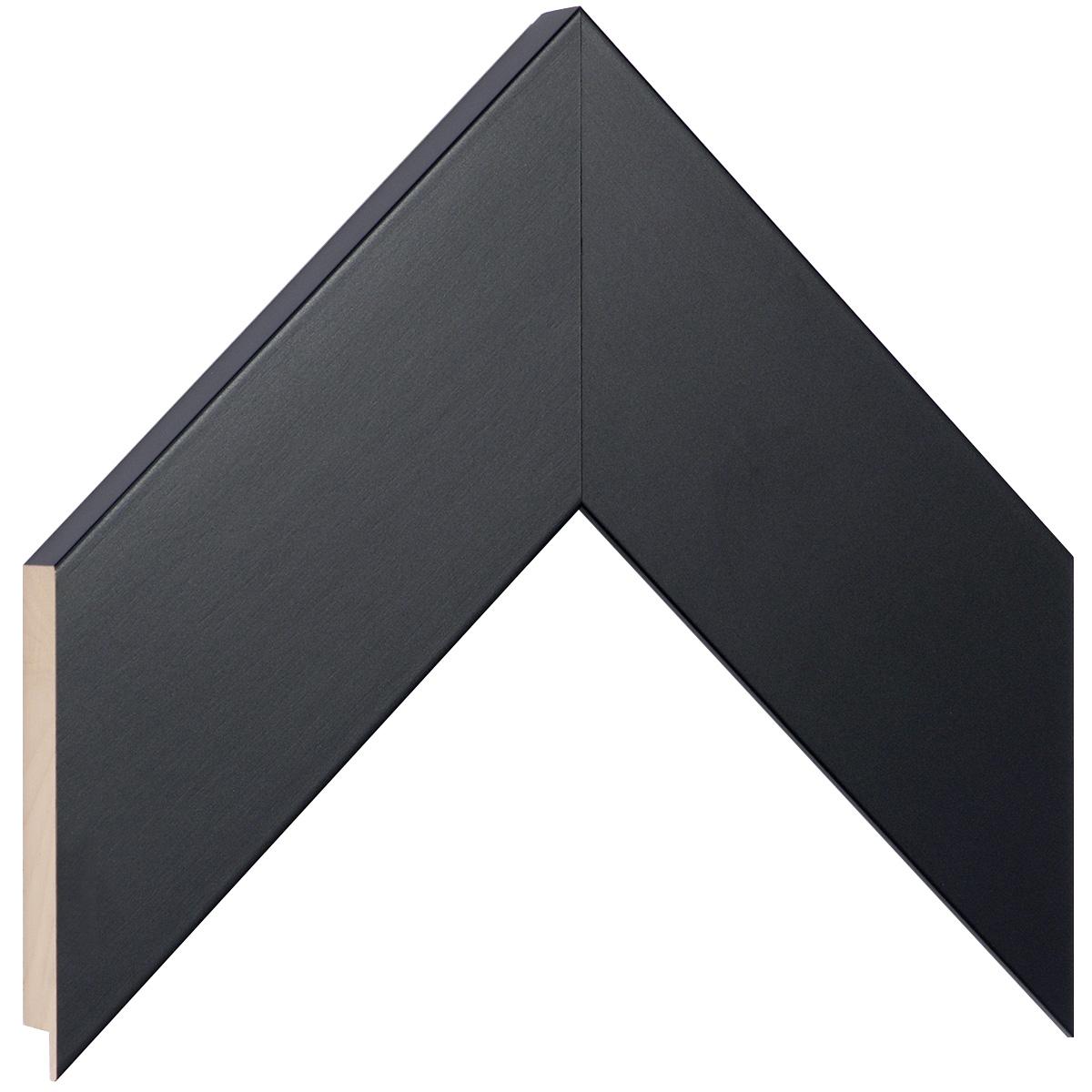 Moulding ayous, width 68mm height 20 - black