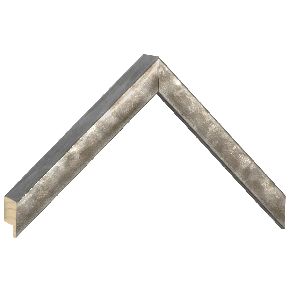 Moulding fir Width 19mm Height 34 - Silver finish