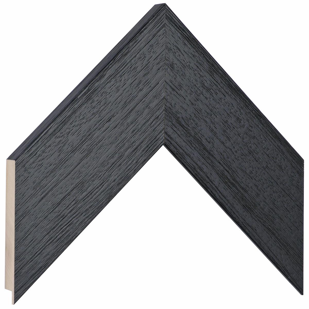 Moulding ayous, width 68mm height 20 - black, open grain
