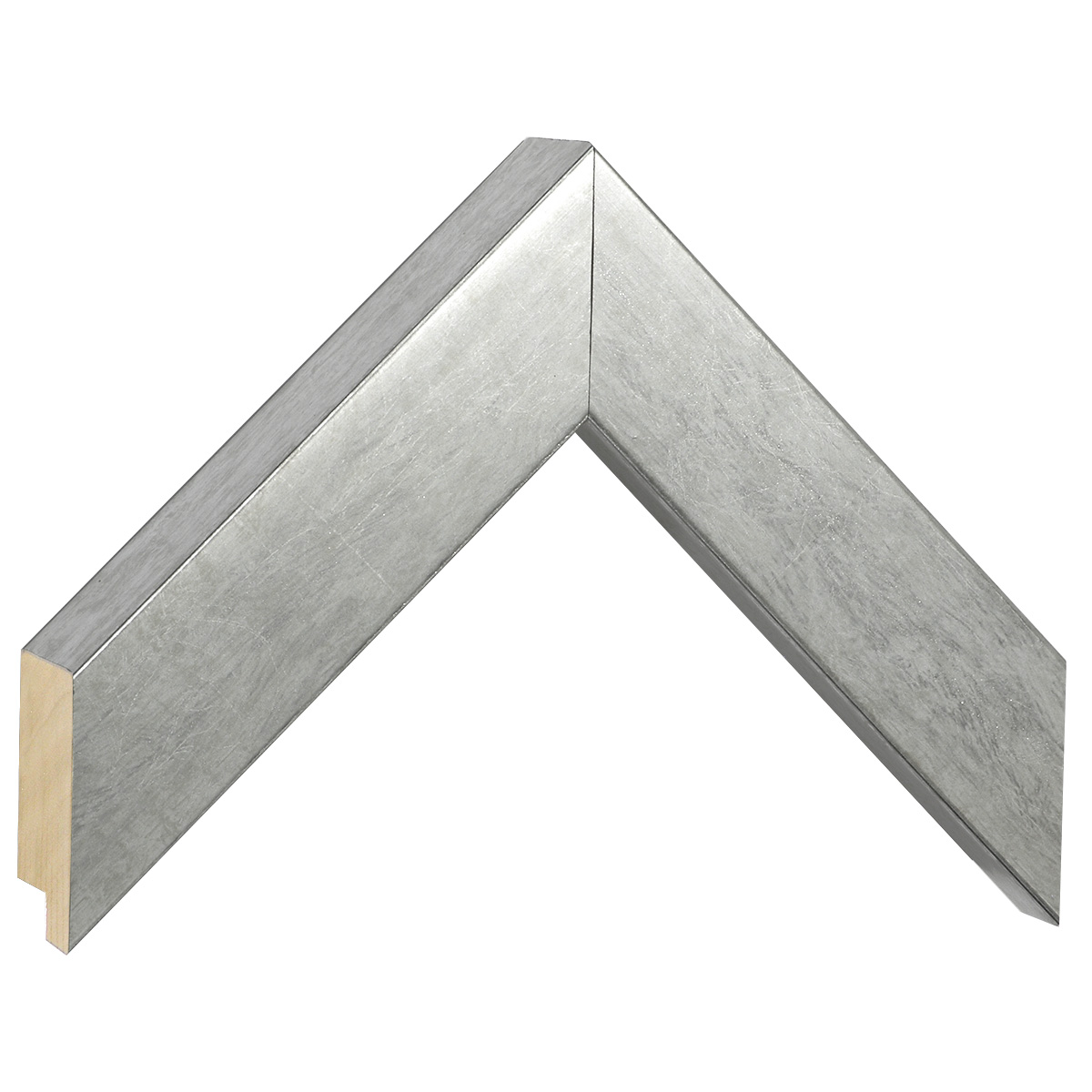 Moulding pine, width 40mm, height 45, silver