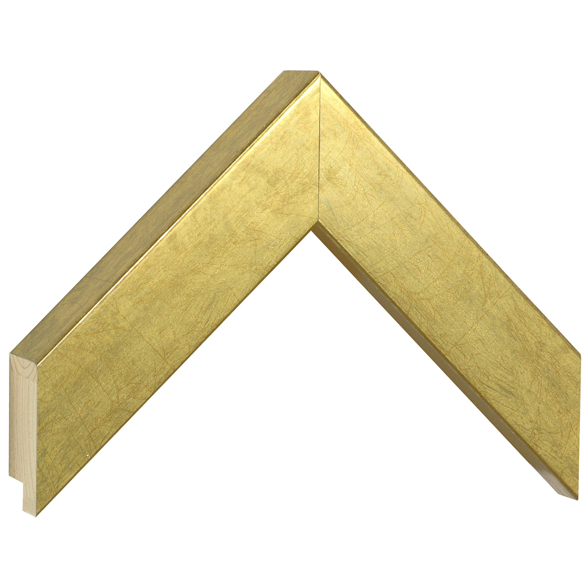 Moulding pine, width 40mm, height 45, gold