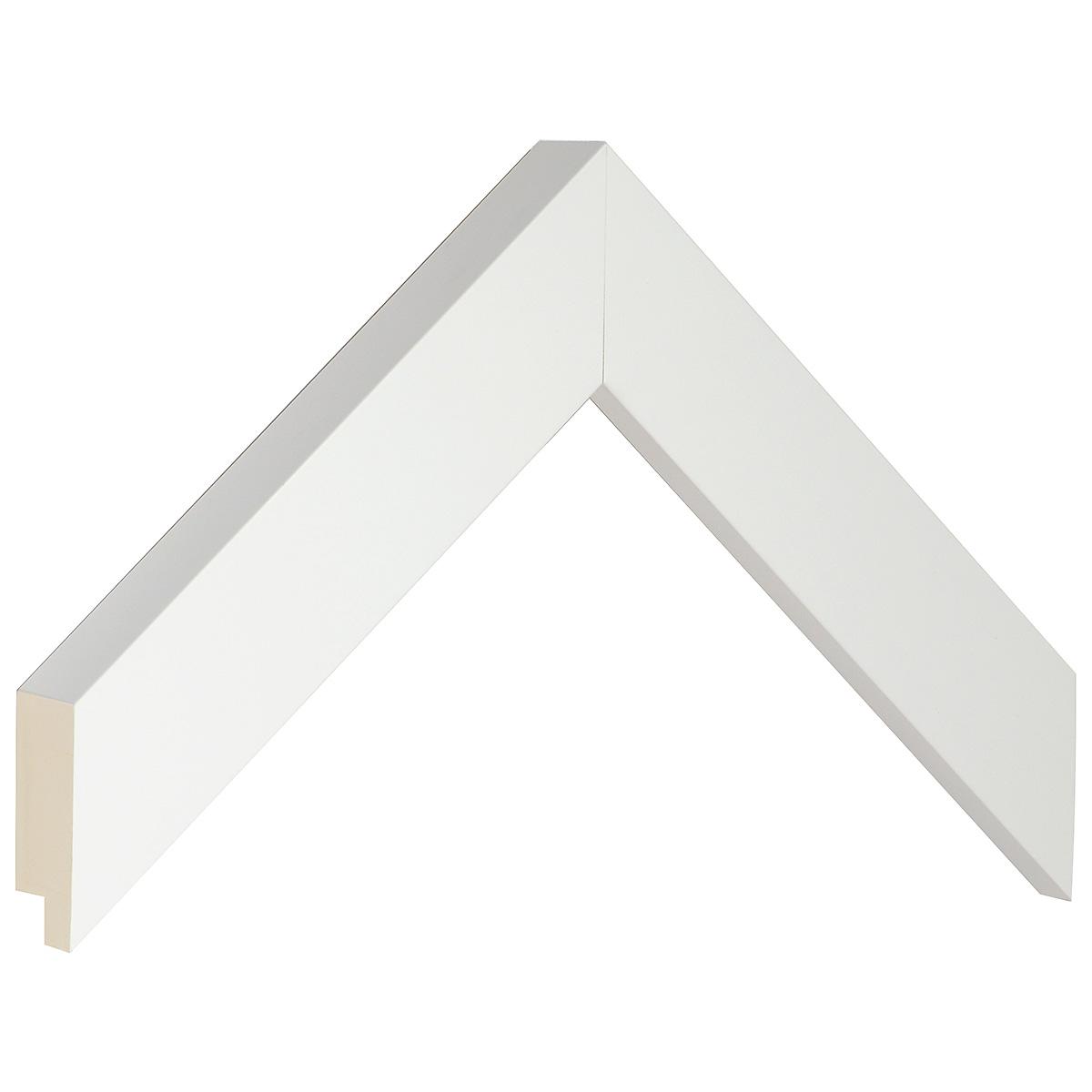 Moulding finger joint pine width 34mm height 34 - matt white