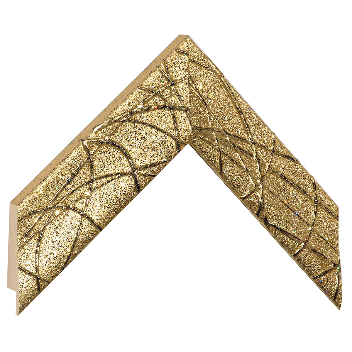 Moulding ayous, width 47mm, height 30, gold with decorations
