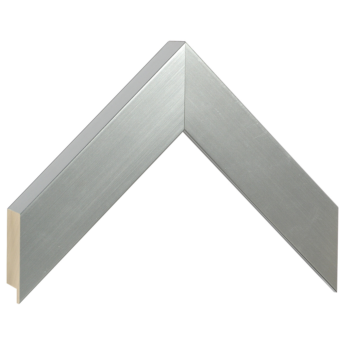 Moulding ayous, width 40mm height 32 - silver