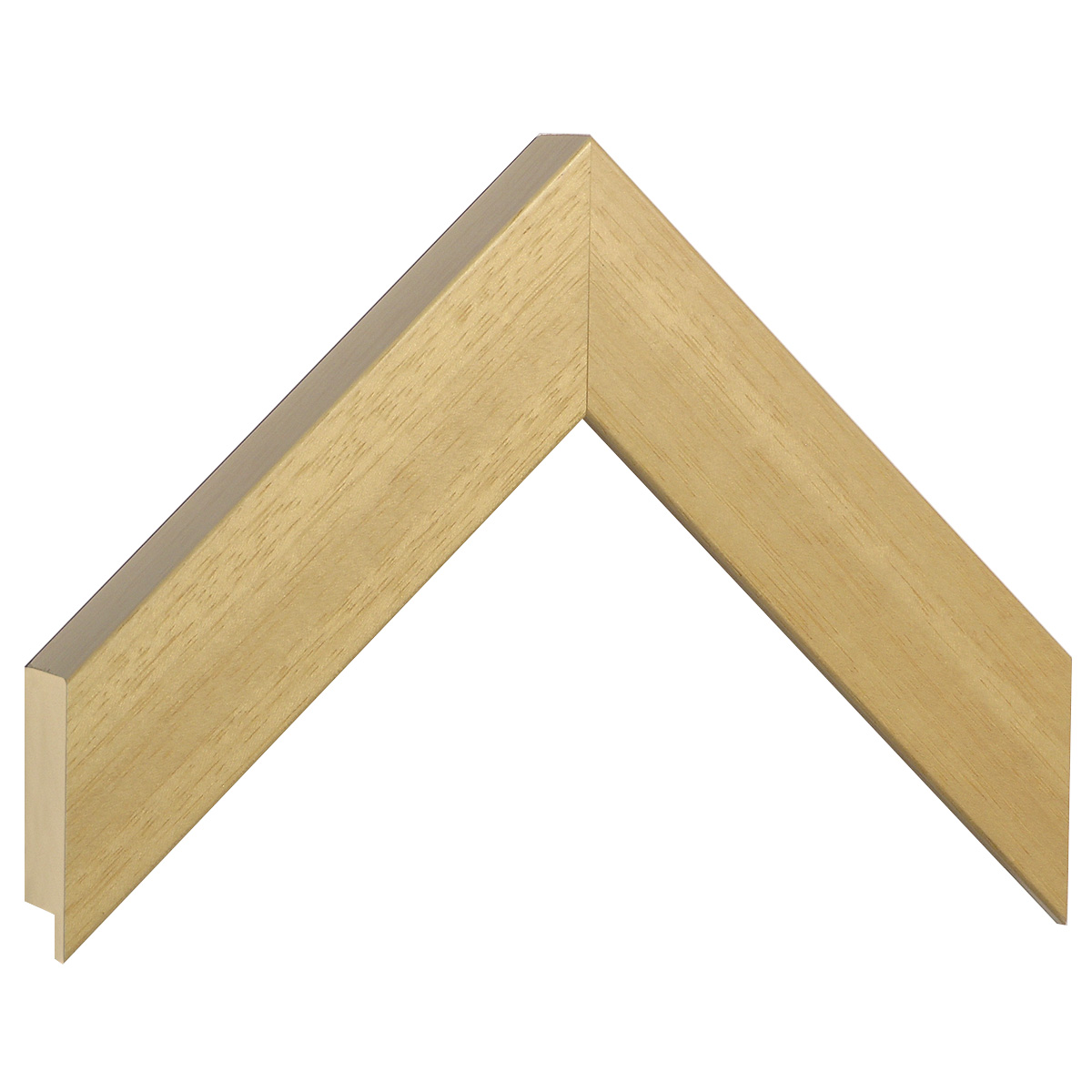 Moulding ayous, width 40mm height 32 - natural wood