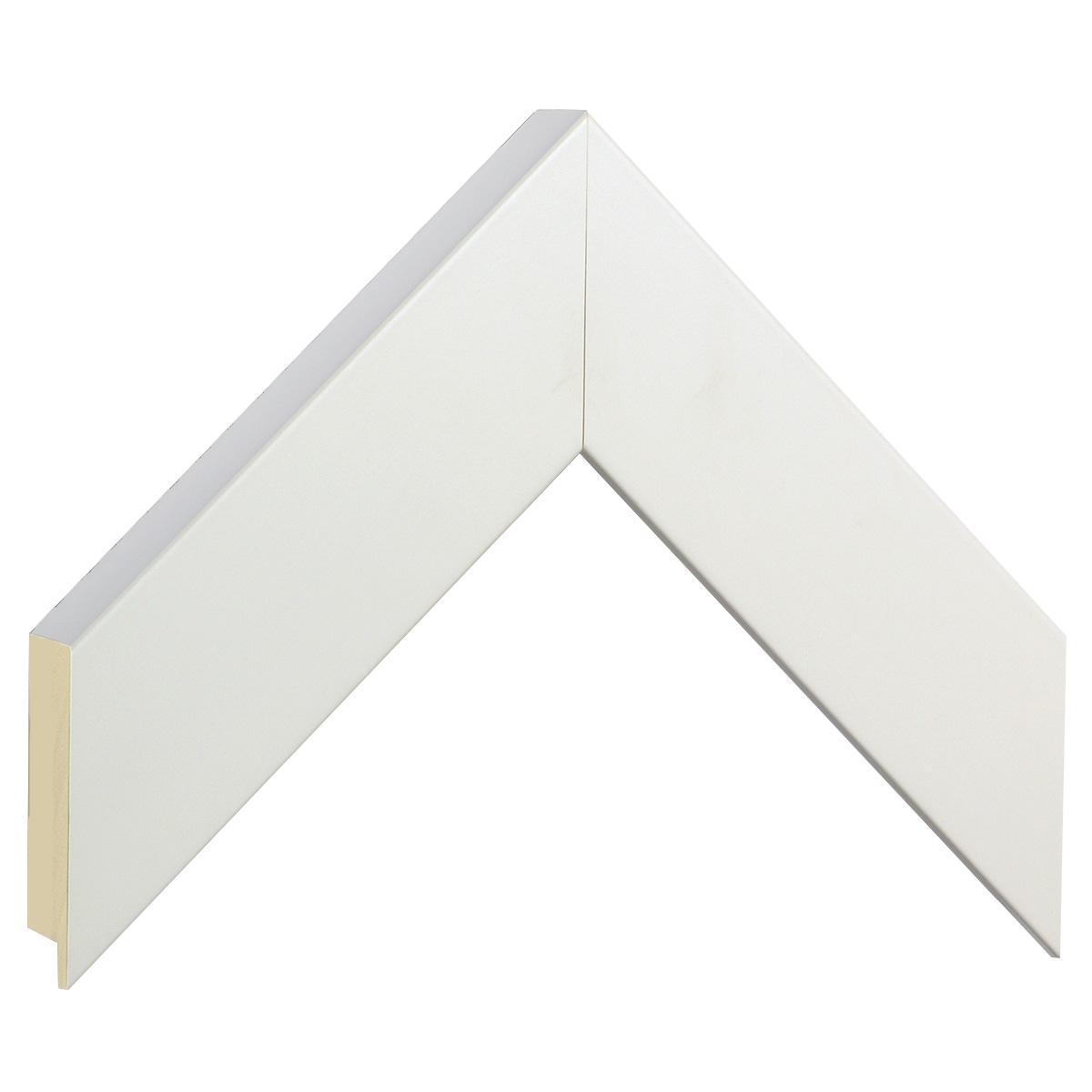 Moulding ayous, width 50mm height 32 -  matt white