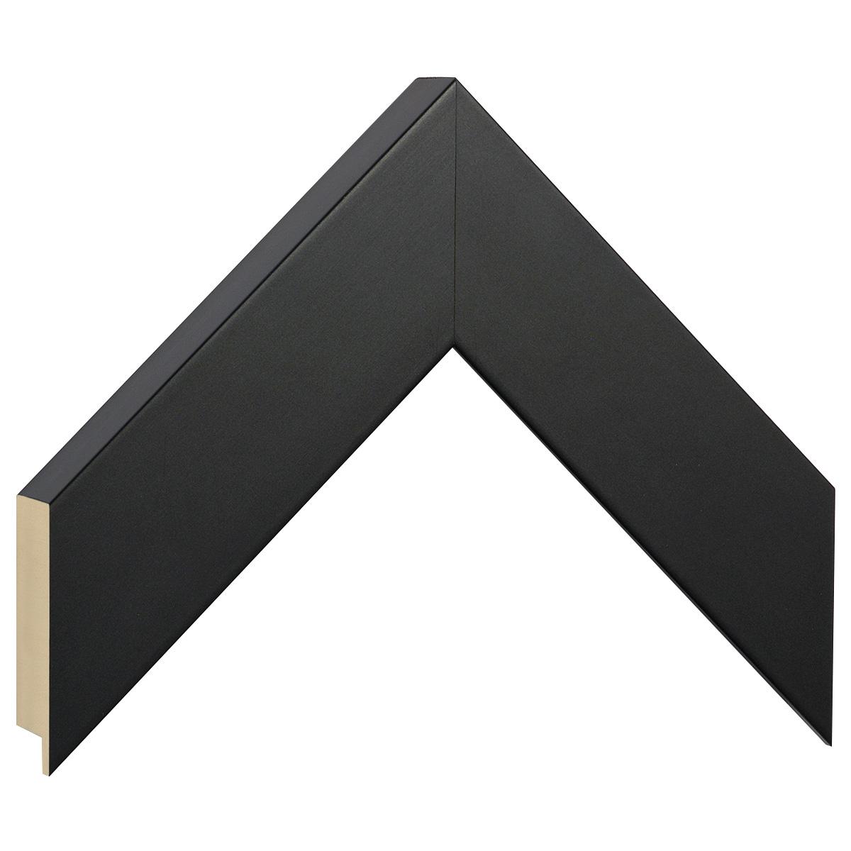 Moulding ayous, width 50mm height 32 - matt black