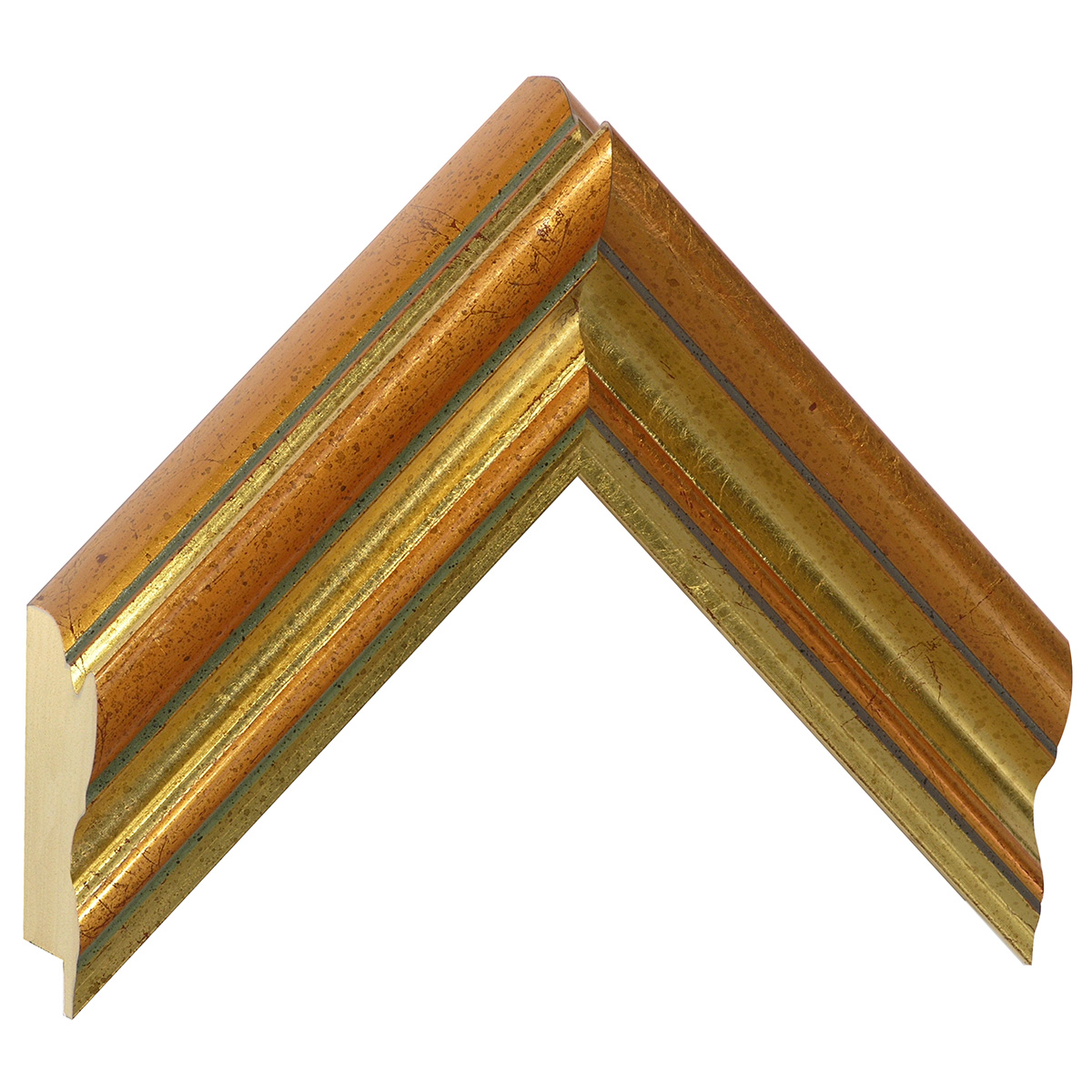 Moulding ayous, width 55mm, height 45, copper gold
